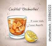 alcoholic cocktail godmother... | Shutterstock .eps vector #333863222