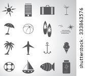 travel icons set illustration   Shutterstock .eps vector #333863576