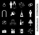 wedding icons set illustration | Shutterstock .eps vector #333863606