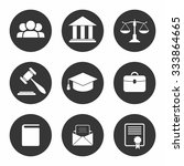set of black law and justice...   Shutterstock .eps vector #333864665