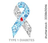 diabetes awareness ribbon made... | Shutterstock .eps vector #333865046