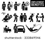 worker employment job benefits... | Shutterstock .eps vector #333869546