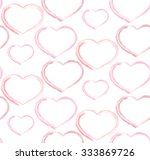 watercolor hearts. seamless | Shutterstock .eps vector #333869726