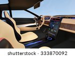 electric car console. user...