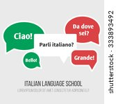 language poster  banner with... | Shutterstock .eps vector #333893492