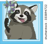 raccoon in the square  vector... | Shutterstock .eps vector #333894722