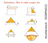 instructions how to make paper... | Shutterstock .eps vector #333896012