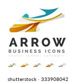 set of arrow logo business...   Shutterstock .eps vector #333908042