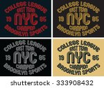 college league graphic design ... | Shutterstock .eps vector #333908432