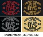 college league graphic design ... | Shutterstock .eps vector #333908432