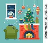 modern creative christmas... | Shutterstock .eps vector #333908468