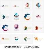 set of abstract wavy elements.... | Shutterstock .eps vector #333908582