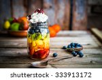 Colorful Fruit Salad In A Jar...