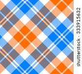 Orange And Blue Light Tartan...
