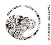 Vector Monkey Style Zentangl....