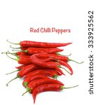 Stack Of Ripe Red Chili Pepper...