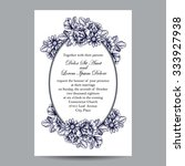 romantic invitation. wedding ... | Shutterstock . vector #333927938