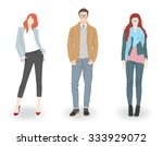 young fashion boy and two... | Shutterstock .eps vector #333929072
