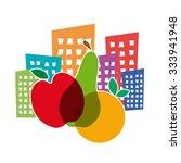 vector sign greengrocer. slow... | Shutterstock .eps vector #333941948