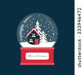 merry christmas snow globe with ... | Shutterstock .eps vector #333946472