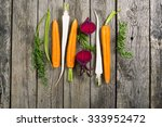 sliced raw vegetables  carrot ... | Shutterstock . vector #333952472