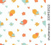 seamless pastel pattern with... | Shutterstock .eps vector #333953522