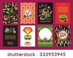 big set of brazil  carnival... | Shutterstock .eps vector #333953945