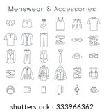 men fashion clothing and... | Shutterstock .eps vector #333966362