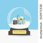 illustration of christmas snow... | Shutterstock .eps vector #333971528