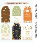 thanksgiving gift tags bundle | Shutterstock .eps vector #333976346