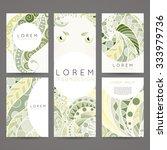 set of vector design templates. ... | Shutterstock .eps vector #333979736