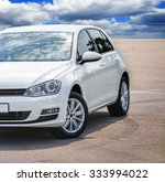 Stock photo white sport car without a trade brand 333994022
