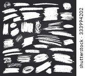 set of strokes of chalk on... | Shutterstock .eps vector #333994202