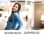 happy young woman smiling | Shutterstock . vector #333998132