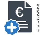 euro medical invoice glyph icon.... | Shutterstock . vector #334009502