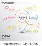 vector infographic report...   Shutterstock .eps vector #334017095