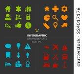 minimalistic infographic vector ...