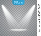 vector spotlights. scene. light ... | Shutterstock .eps vector #334018415