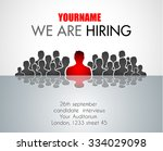 we are hiring background for... | Shutterstock .eps vector #334029098