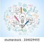 idea concept with light bulb...   Shutterstock .eps vector #334029455