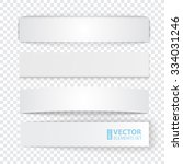 set of blank stripe paper... | Shutterstock .eps vector #334031246