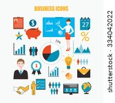 business symbols and icons ... | Shutterstock .eps vector #334042022