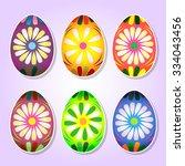 painted easter eggs. design... | Shutterstock .eps vector #334043456
