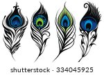 stylized  vector peacock... | Shutterstock .eps vector #334045925