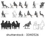 people sitting | Shutterstock .eps vector #3340526