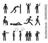 man posture pictogram and icons ... | Shutterstock .eps vector #334053902