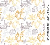 elegant seamless pattern with... | Shutterstock .eps vector #334054142