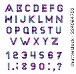 vector alphabet set fun... | Shutterstock .eps vector #334064702
