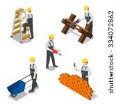 flat 3d isometric builder... | Shutterstock .eps vector #334072862