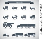 trucks icons set | Shutterstock .eps vector #334073066